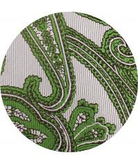Gris con Paisley Verde y Tirante Gris con Topos