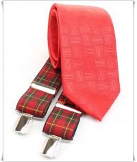 Rojo con Tramas y Tirante Escoces