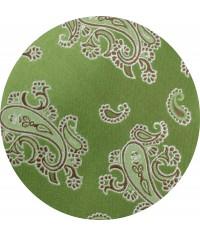 Verde  Paisley con Tirante Chocolate