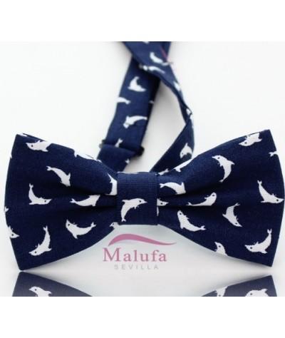 azul con Delfines
