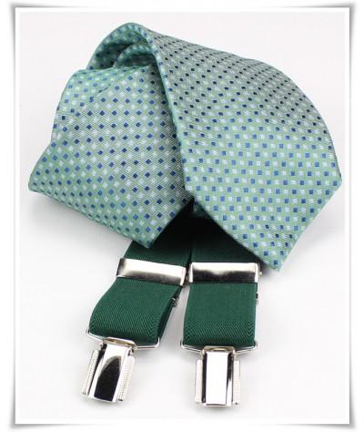 Verde con cuadritos Y Tirante Liso al tono